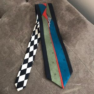 Vintage abstract PAVONE Silk Tie Handmade Italy
